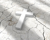 White cross (3d) Royalty Free Stock Photography