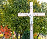 White Cross at Apparition Mountain in Medugorje Stock Photography
