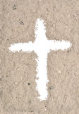 White cross in ash Stock Photos