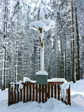 White Cross (Bily Kriz) - Christian pilgrimage site in the Beskids (Karpaty), the borders of the Czech Republic and Slovakia Stock Image