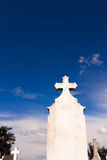 White cross blue sky Royalty Free Stock Images