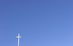 White Cross, Blue Sky Royalty Free Stock Image