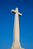 The white cross in blue sky Stock Photography