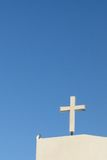 White cross with blue sky Stock Photo