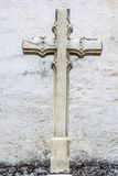 White Cross at a church Stock Photography