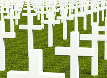 White cross grave Royalty Free Stock Photo