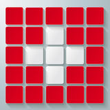White Cross Infographic Red Background Stock Images