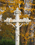 White cross with Jesus Royalty Free Stock Image