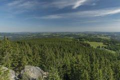 White cross in Jizerske mountains Stock Photography