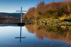 White Cross Pond Royalty Free Stock Images