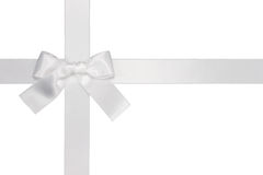 Free White Cross Ribbon With Bow Royalty Free Stock Photography - 14459017