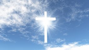 White cross in the sky Royalty Free Stock Photos