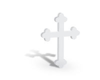 White Cross Standing Left Stock Photography