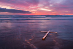 White Cross Waves Royalty Free Stock Images