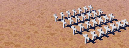 White crosses Royalty Free Stock Photography