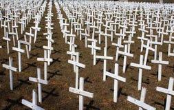 White Crosses Stock Image