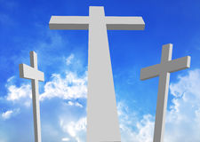 White Crosses - Calvary Stock Photography