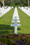 White Crosses of the World War II Normandy American Cemetery and Memorial Royalty Free Stock Image