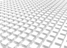 White Crowd 3d Cube Art Stock Images