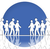 White Crowd. It's a white crowd that is running in opposite directions Royalty Free Stock Images