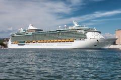 White cruise ship stock image