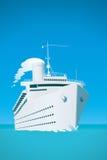 White cruise ship Stock Photos