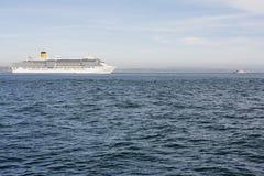 White cruise ship Stock Images