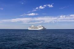 The white cruise ship Stock Photo