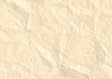 White crumped paper. Old yellow  paper texture with cramps Stock Photography