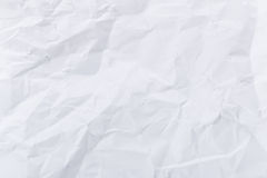 White crumple paper Royalty Free Stock Photos
