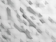 White crumpled abstract background. 3d white crumpled abstract background Stock Photo