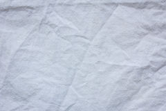 White crumpled cloth textile texture background Stock Photos