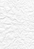 White crumpled paper Stock Photography