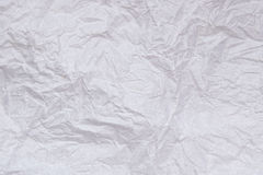 White crumpled  paper abstract for texture background Stock Images