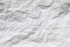 White crumpled paper background Stock Photos