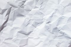 White crumpled paper background Stock Photo
