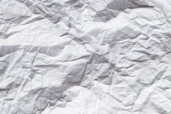 White crumpled paper background Royalty Free Stock Photos