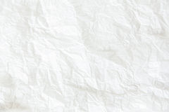 White crumpled paper background, horizontal image. Stylish, mini. Malistic, daylight Stock Photography