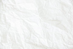 White crumpled paper background, horizontal image. Stylish minimalistic daylight Royalty Free Stock Photo