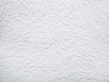 White crumpled paper background. White crumpled paper texture and background Royalty Free Stock Images