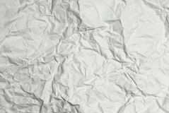 White crumpled paper background texture Stock Photos