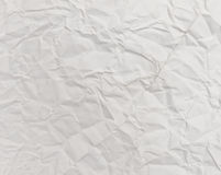 White crumpled paper background texture Royalty Free Stock Photos