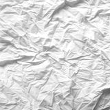 White crumpled paper background texture Stock Photography
