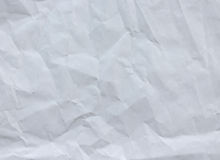 White crumpled paper background texture Stock Images