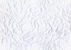 White crumpled paper background texture. Stock Photo