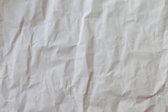 White crumpled paper, background and texture. Stock Photo