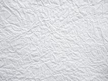 White crumpled paper background. White crumpled paper texture and background Stock Images