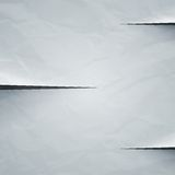 White crumpled paper cut background Royalty Free Stock Image