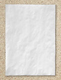 White crumpled paper on desktop Royalty Free Stock Photos