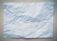 White crumpled paper on Gray Stock Image